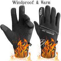 Thermal Windproof Winter Warm Fleece Gloves Touch Screen Ski Mittens Men Women