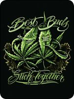 45x60 Super Soft Blanket Best Buds Stick Together Weed Pot Throw Faux Fur Fleece