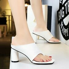 Women High Heel Thong Sandals Clip To Flip Flops Sexy Party Evening Cocktail