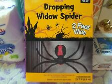 Motion & Sound Activated ® Two-foot Halloween Black Widow Droppining Spider