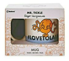 Mr Tickle Mug Boxed Mr Men Ceramic #LOVETOLAUGH BNIB Fathers Day Gift