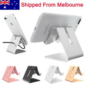 AU Aluminum Phone Holder Stand Office Home Desk Desktop For iPhone Cellphone