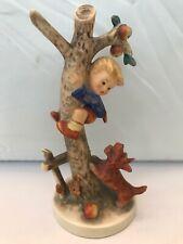 """Hummel 56/A Culprits TMK2 Dog Barking At Boy In Apple Tree 6 1/4"""" Tall"""