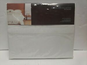 Hudson Park Collection 600 Thread Count Twin Flat Sheet 100% Solid Egyptian