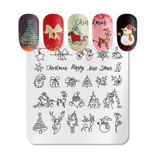 Christmas Nail Art Stamping Plates Manicure Stamp Stencil Graffiti Xmas Light AU