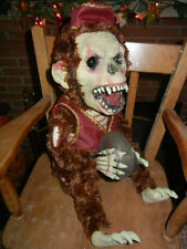 ANIMATED LIFE SIZE PHANTOM OF THE OPERA MONKEY w/ SYMBOLS HALLOWEEN (see video)