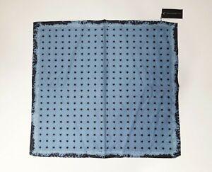 "NEW John Varvatos Unisex Bandana in Blue with Stars 21"" x 19 1/2"" Cotton/Silk"