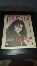 Vesta Williams 4 U Rare Original Radio Promo Poster Ad Framed #2