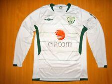 * IRELAND Football Shirt Jersey 2009 2010 UMBRO LONG S world euro 09 10 soccer
