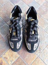 Michael Kors NEW Runway Black Gold Fashion Sneaker Shoe Womens Size 5 M No Box