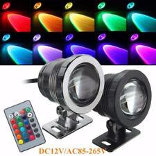 10W AC85-265V RGB LED sous l'eau éclairage SPOT IP68 étanche étang Aquarium