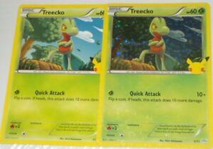 2021 Pokemon McDonalds 25th anniversary Treecko Holo Card #3/25 & common.