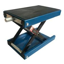 "1100LB 9"" Wide Deck Motorcycle Center Scissor Lift Jack Hoist Stand Bikes Blue"
