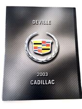 2003 Cadillac DeVille DHS and DTS 28-page Canada Car Sales Brochure Catalog