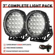 OSRAM Pair LED Driving Spot Lights 7inch Pair Offroad Spotlight Truck Work Black