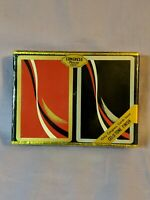 Brand New ~ Red & Black Vintage Congress Playing Cards / Case (Cel-U-Tone Finish