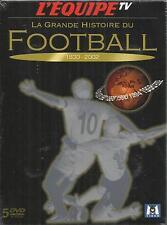 LA GRANDE HISTOIRE DU FOOTBALL 1930-2002 COFFRET  5 DVD