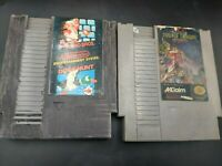 Lot  Super Mario Bros and Duck Hunt/Double Dragon II Nintendo NES Free Shipping