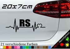 Herzschlag RS Aufkleber Tuning Diesel Really Sport TDI JDM Love Sticker 20x7cm