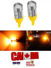 2x T10 194 168 10SMD 4W 5630 Amber Yellow LED Projector Signal Light Bulbs Car