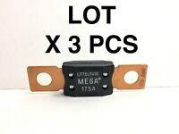 Mega Fuse 175A Littelfuse 32V DC Slo-Blo. LOT OF 3 PIECES