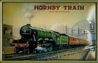 Hornby Tren Letrero de Metal 3D en Relieve Arqueado Tin Sign 20 X 30CM