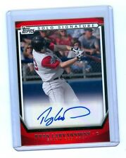 RYAN LAVARNWAY 2011 Topps Pro Debut Solo Signature Auto Rc Boston Red Sox