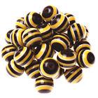 10pcs 20mm Resin Striped Beads for Pendant Charm Bracelet Necklace Bubblegum