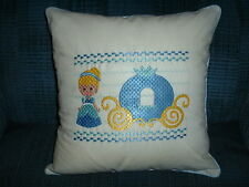Cinderella Embroidered Pillow--12x12