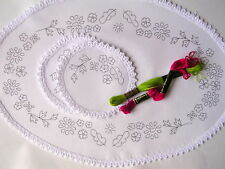 Printed Dressing Table Chewal Set to hand embroider flowers cotton CS0028