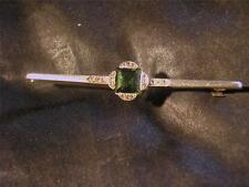 Lovely Art Deco 15ct Gold,Plat,Tourmaline & Diamond Brooch
