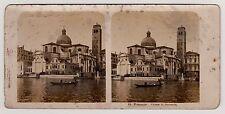 Venedig Venezia San Geremia Stereofoto Foto 1904 Italy