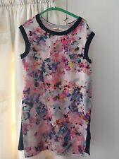 Oasis size L beautiful floral tunic jersey side panels perfect condition