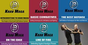 Krav Maga Israel Combat Self Defense Techniques Combat Training 5 DVD Disc Set
