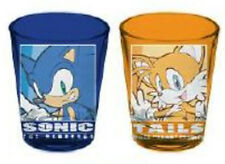 Sonic the Hedgehog Sonic and Tails Shot Glass Set Anime Manga NEW