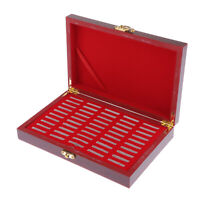 Coin Storage Box - Solid Wood Coin Display Box for 50 Pieces of Coins / Medals