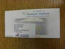 06/03/2012 Ticket: Reading v Portsmouth [93.7 Express FM] . Thanks for viewing t