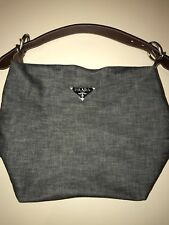 68a5649e4a4057 Prada Bagette in Jean with Brown Leather handle- Great Condition