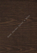 Dark Brown Wood Grain Vinyl Contact Paper Shelf Drawer Liner Peel Stick