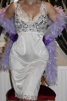 100(3)  Marks&Spencer vanilla nylon&lace full slip petticoat lingerie size 14