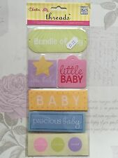 Nuevo 6x Mambi me & My Big Ideas-Threads jumbo etiquetas tejidas Nuevo Precioso Bebé