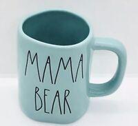 "Rae Dunn Mom Collection By Magenta ""MAMA BEAR"" Farmhouse Tiffany BLUE TEAL Mug"