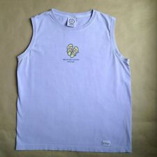 Life is Good Not All Who Wander Are Lost Sleeveless T-Shirt Size M Purple Flaw