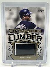 2020 Leaf Lumber Kings Frank Thomas Game Used Lumber Bat 1/1!