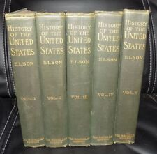 1905 History of the United States by Henry William Elson, Complete 5 Volume Set