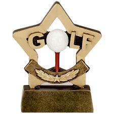 Confezione di 10 Palla Da Golf & Tee MINI STAR TROFEO resina 8 cm INCISIONE GRATIS A1116 GMS