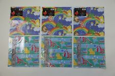 NOS New Old Stock Vintage Care Bears Circus Kids Birthday Wrapping Gift Paper
