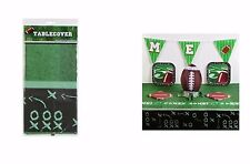Football Table Cover, Super Bowl, Birthday Party Tablecloth, Tailgating  54 x 96