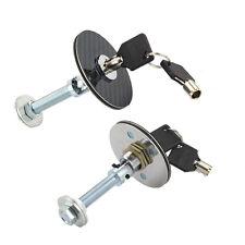 1 Pair Universal Carbon Fiber Mount Bonnet Hood Latch Pin Locking Kit & Key