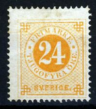 SWEDEN 1872 24 Ore Orange-Yellow Perf 14 SG 23aA MINT